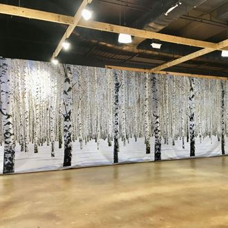 Picture of Winter Snow Forest Backdrop