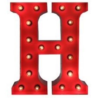 Picture of Marquee Letter - H