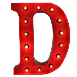 Picture of  Marquee Letter - D