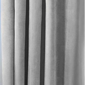 Picture of Grey Velvet Curtains