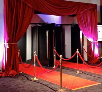 Picture of Red Curtain Entrance
